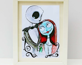 Jack and sally art | Etsy