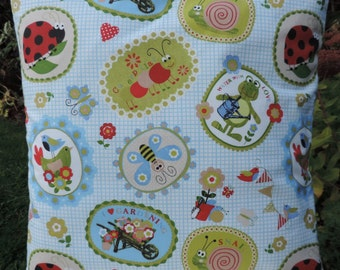 Kids Cushion, Childrens Cushion, Children's Cushion Cover.  Animals. Handmade