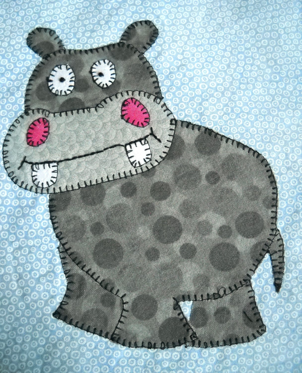 Hippo Pdf Applique Pattern Zoo Animal Quilt Pattern African