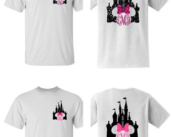 Monogrammed Disney t shirt Castle