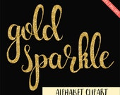 BUY 3 FOR 7 USD, Gold glitter alphabet clipart,  gold digital letter, glitter digital alphabet, gold sparkly, sparkle font clipart, download