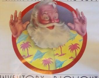 Vintage Gimbels Christmas in August Sale Poster
