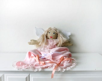 Blonde Girl Angel Doll With Receiving Blanket Tunic