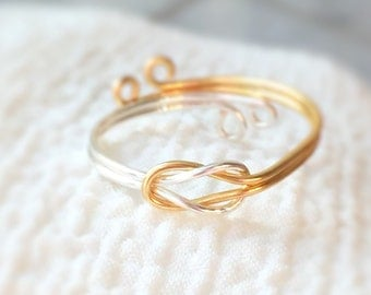 Mothers day - infinity knot ring,eternity ring,infinity wire ring,knot ring,silver knot ring,reversible ring,love ring,swirl ring,bohomian