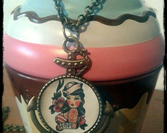 Necklace pinup rockabilly