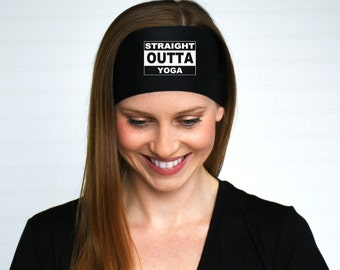 Straight Outta Yoga Headband | Yoga Headband