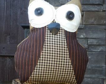 Primitive Owl Pillow