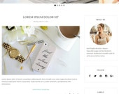 Blogger Template Premade Blogger Templates Responsive Blogger Template Blog Template Minimal Simple Photography Blogspot Template Amabel