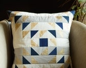 Triangle Collage Pillow Pattern- Downloadable MODERN QUILTED PILLOW Pattern