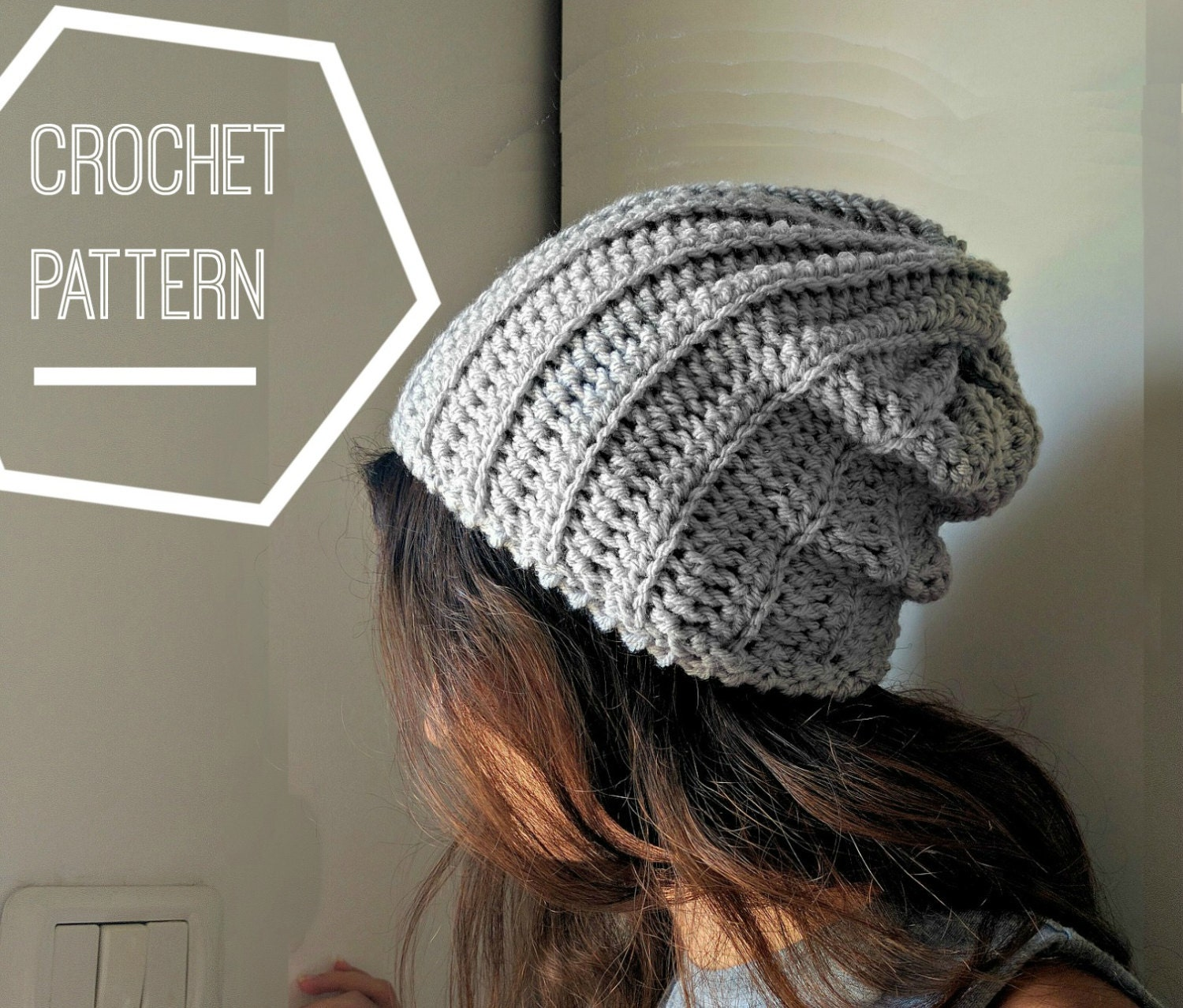 Ribbed crochet beanie pattern slouchy crochet hat pattern ribbed crochet beanie pattern slouchy crochet hat pattern slouchy crocheted beanie hat crochet patterns for men mens slouchy hat pattern bankloansurffo Images
