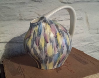 1960s Jug/contemporary style/vintage/Handpainted
