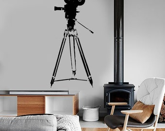 Wall Vinyl Decal Camera Movie Hollywood Cool Actor Amazing Decor 1358dz