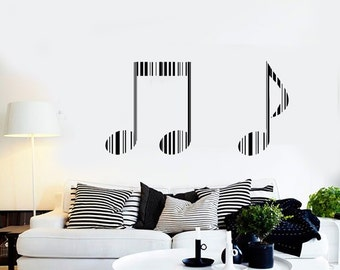 Wall Vinyl Music Notes Bar Code Guaranteed Quality Decal Mural Art 1548dz