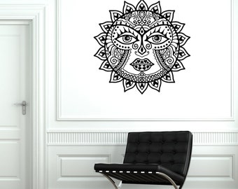 Wall Decal Sun Space Cool Ornament Tribal Mural Vinyl Decal Sicker 1887dz