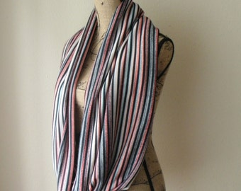 SALE! Striped Sweater knit Loop Scarf