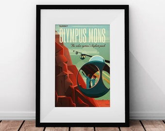 SpaceX, Travel Poster, Space Travel, Modern Art, SpaceX Mars, Retro Space, Space Poster, Printable Poster, Futurism,  Sci-fi, Printable Art