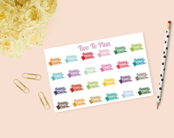 Planning Time Stickers! Planner Stickers Perfect for the Erin Condren Life Planner! Rainbow Planner, Washi, and Pen Stickers!