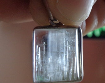 Aquamarine barrel polished serling silver