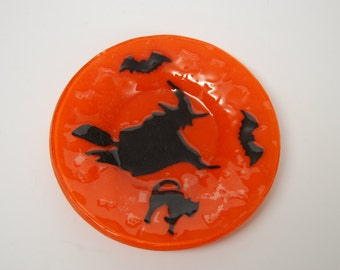 Art Glass Plate for Halloween