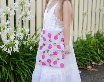 Handmade Kids Pink / Blue Pineapple Bag
