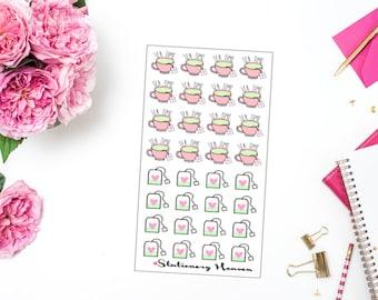 30 Kawaii Green Tea Planner Sticker (126)