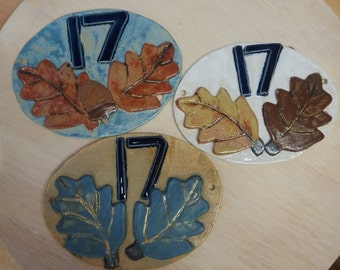 Ceramic house numbers and names commissions