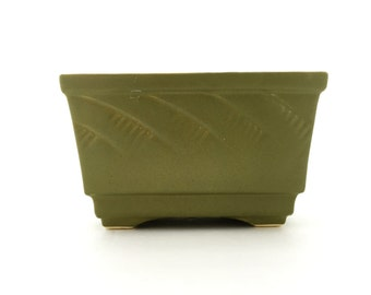 Vintage Planter--Green Planter--McCoy Floraline Planter--Succulent Planter--Small Rectangular Ceramic Pot