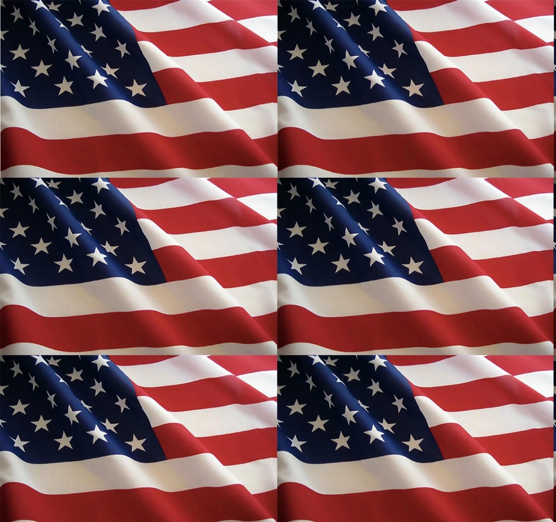 12 x 12 Inch American Flag Vinyl Sheet Permanent Adhesive 3-5