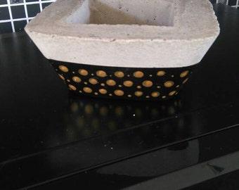 Concrete Hand Painted bowl