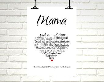 "Print / Druck ""MAMA"""