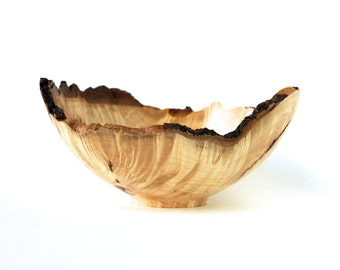 Small Natural Edge Maple Burl Wood Bowl-Artistic Bowl-Hand Made-Home Decor-Kitchen Gourmet