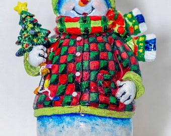 """Snowman with Tree Fridge Magnet 3.25""""x2.25"""" Collectibles (PMD11021)"""