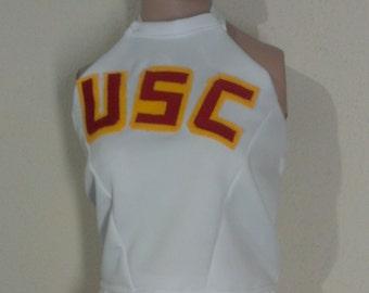 USC Trojans Top Cheerleader Uniform Football Game Costume NEW