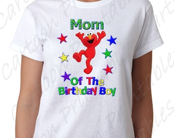 Elmo Mom of the Birthday Boy IMAGE use as Printable Clip art Iron on transfer Sesame Street Shirt T-shirt Party DOWNLOAD DIY