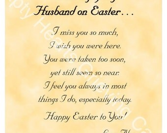 Easter Day Grieving Cards for a Husband