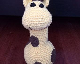 Large Crochet Plush Giraffe - FREE SHIPPING