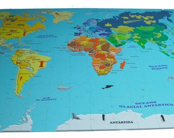 World map 200 giant puzzle pieces (2 x 3 m)