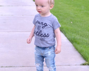 Riptight Skinny Jeans - Bleached, Unisex, Custom Distressed Denim, Boy, Girl, Baby, Toddler