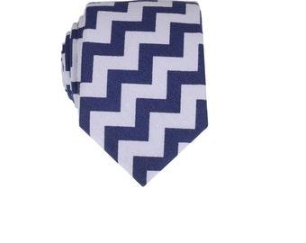 Blue Chevron Tie.Necktie with Blue Chevron Patterns.Groomsmen Ties.Gifts.Mens Gifts.