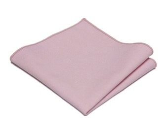 "Blush Pink Linen Pocket Square.Mens Pocket Square.Blush Pink Wedding Handkerchief.Gifts.10""x 10"""