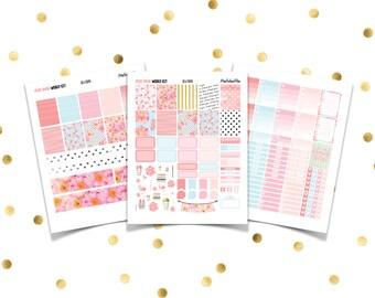 MISS SPADE Weekly Kit // Printable Planner Stickers / Erin Condren Plum Paper Happy Planner Filofax Inkwell Press Flamingo