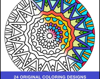 Anti Stress Coloring Book PDF INSTANT DOWNLOAD