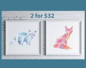 Any Two Geometric Animal Prints - Wall Art Series
