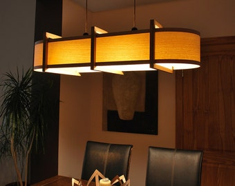 Kitchen Lighting Ceiling light pendant lamp Chandelier bar pool table wood lamp from oak and ash. Also possible to buy matching floor lamp.