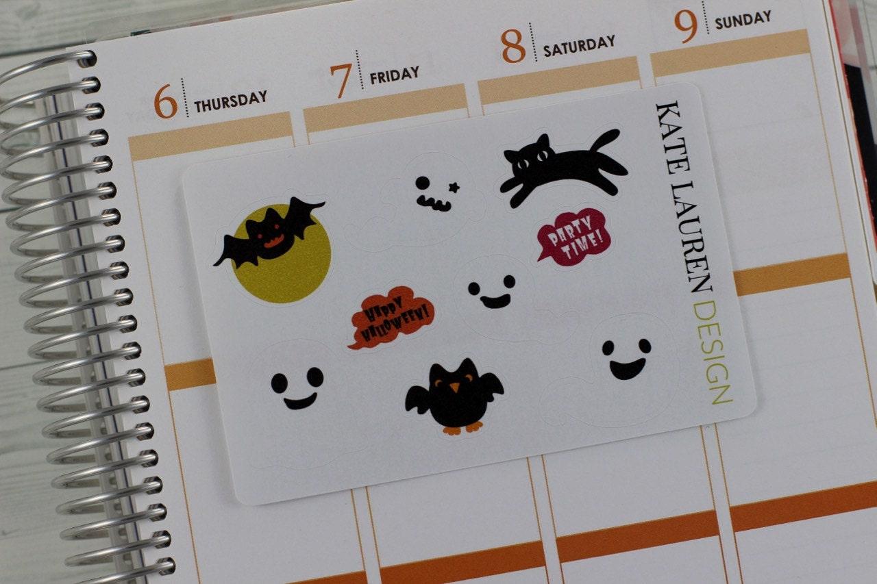 Halloween Party Planner Stickers, Halloween Stickers, Halloween ...