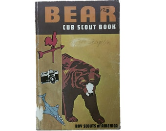 1980 Bear Cub Scout Book | Boy Scout Book | Boy Scouts of America Book | 1967 Cub Scout Book | Vintage 80s Cub Scout Book | Boy Scout Manual