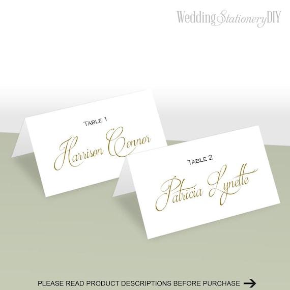 simple elegance place card template place cards wedding diy