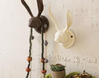 Cast Iron Rabbit Hook // Wall Hanger