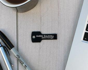 Personalized Key USB Drive, Custom usb, Personalized Flash Drive, Custom Flash Drive, Teacher Gift, Business Gifts --KSB-BL-Aaron Caldwell