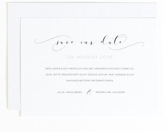 Save the date postcard with envelope - elegant